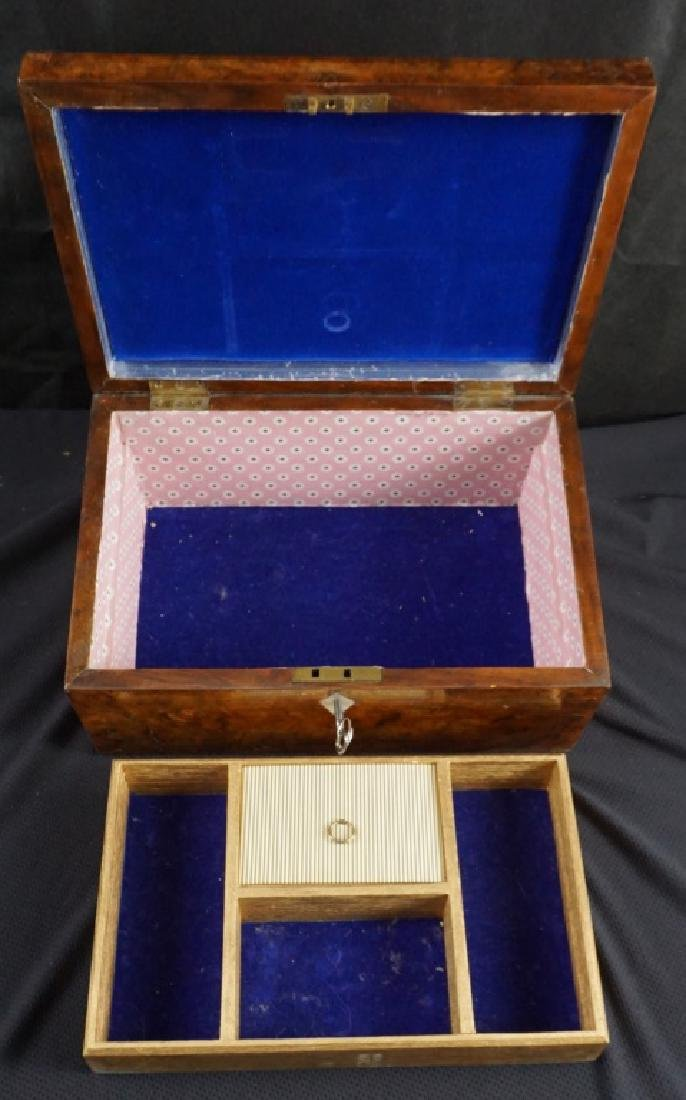 Antique Wood Jewel & Lock Boxes (2) - 5