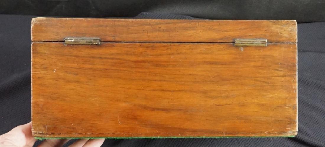 Antique Wood Jewel & Lock Boxes (2) - 6