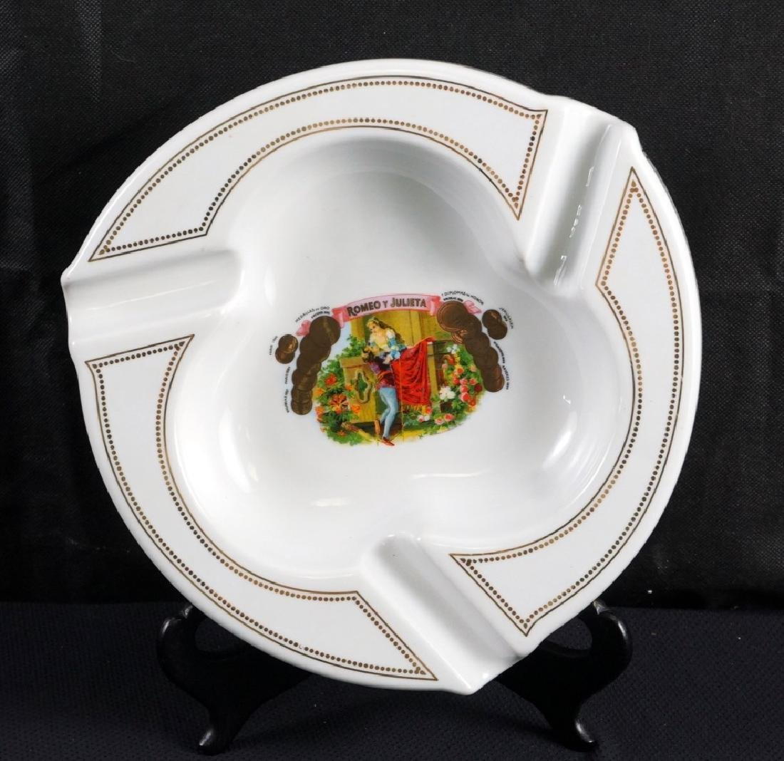 Classic Romeo & Juliet Porcelain Cigar Ashtray