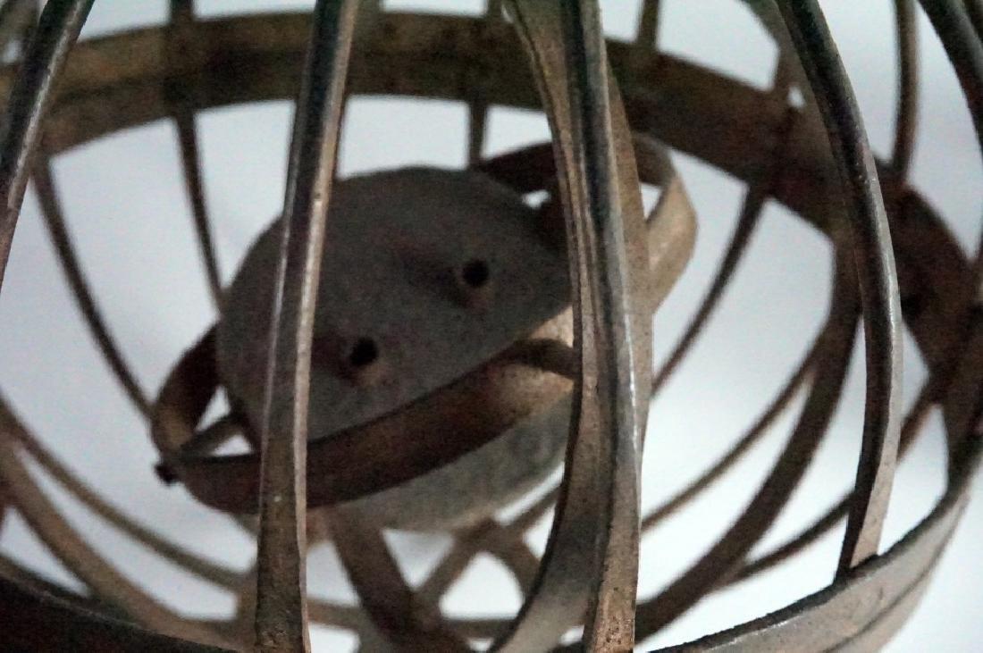 Rare Antique Triple Gimbal Iron Whaler Lanterns-2 - 7