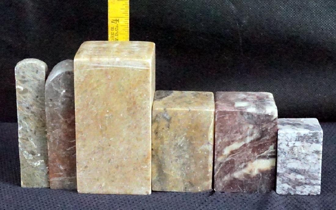 Ancient Stamp Seals and Marble Pedestals - 7