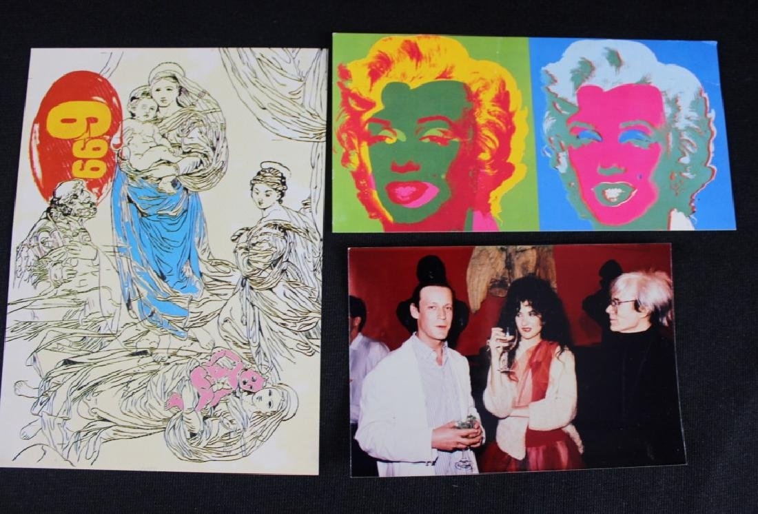 Andy Warhol Mass Cards & Photo of Tama & Andy