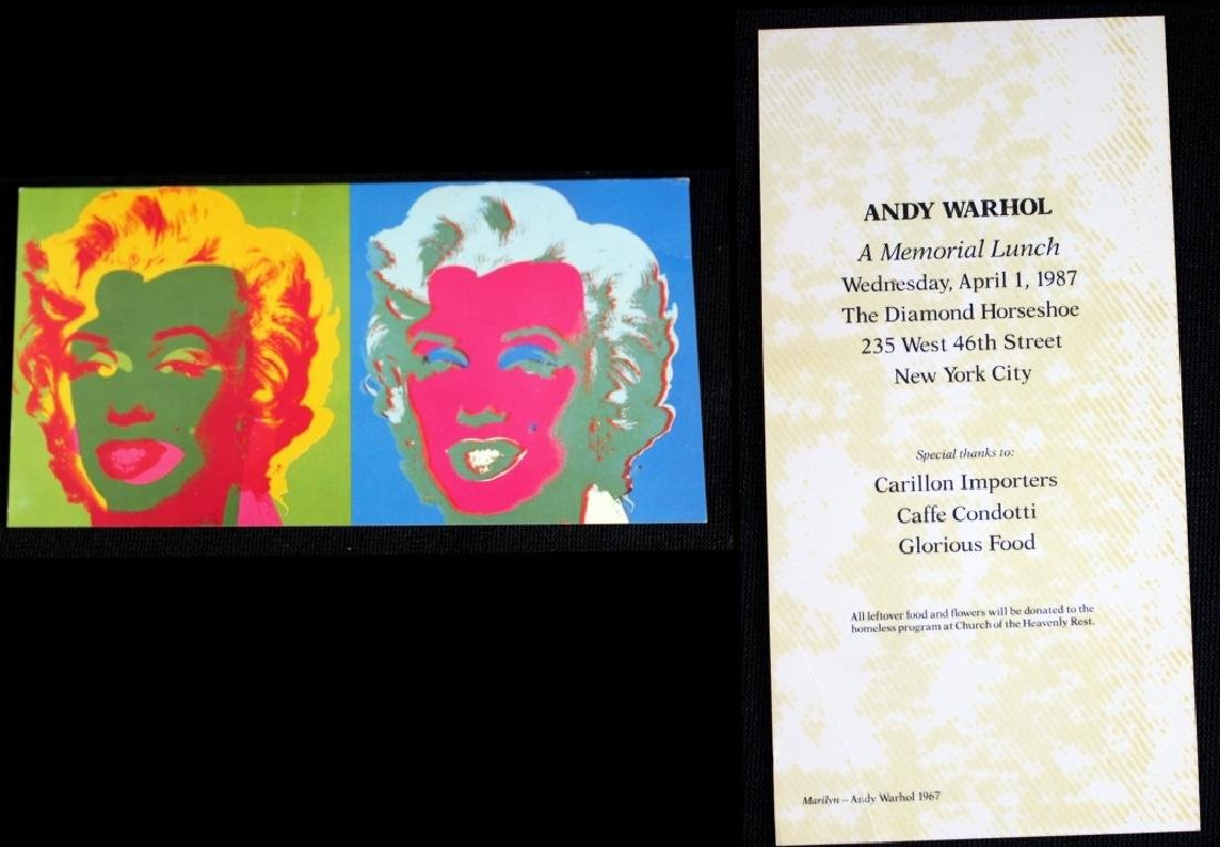 Andy Warhol Mass Cards & Photo of Tama & Andy - 2