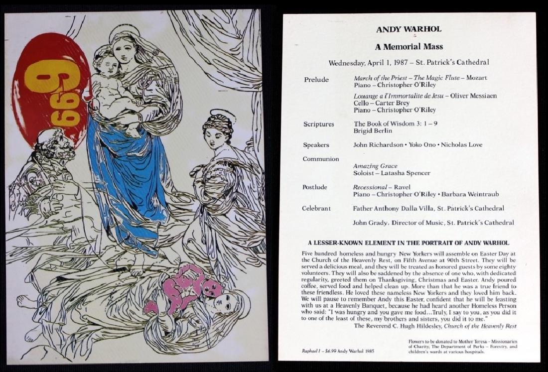 Andy Warhol Mass Cards & Photo of Tama & Andy - 3