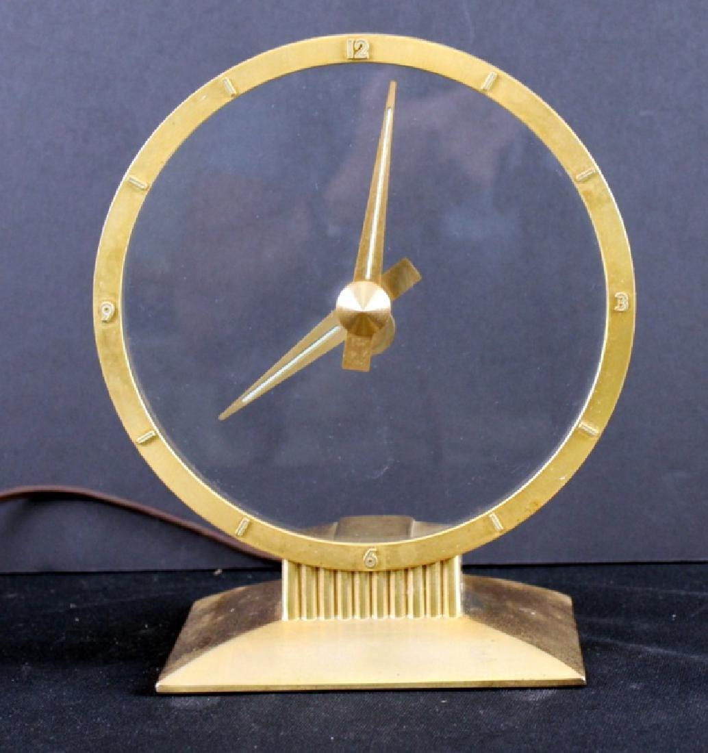 Jefferson Golden Mystery Clock, Mid-Century Modern - 2