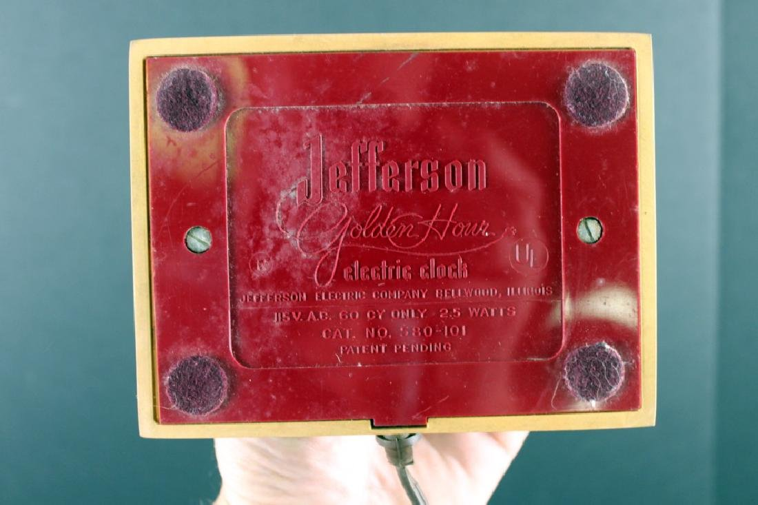 Jefferson Golden Mystery Clock, Mid-Century Modern - 4