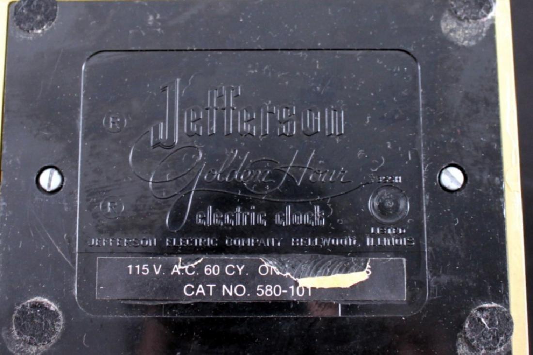 Jefferson Golden Hour Electric Clock, 1950's - 2