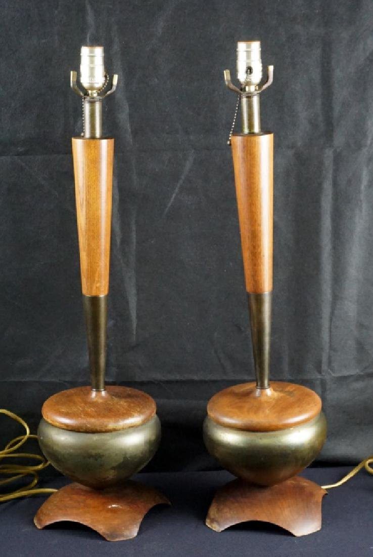 Pair Mid-Century Lamps
