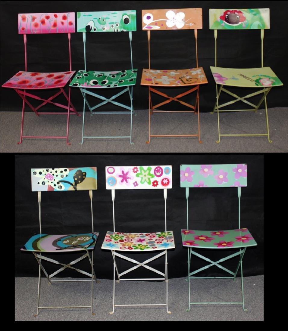 7 Pylones Metal Folding Chairs