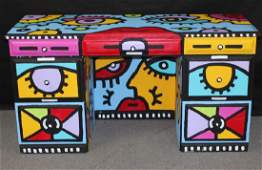 Painted Desk by Billy The Artist