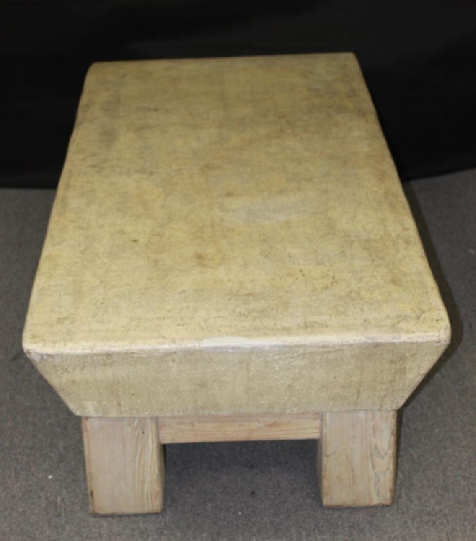 Coffee Table, Wood Base with Composite Top - 4