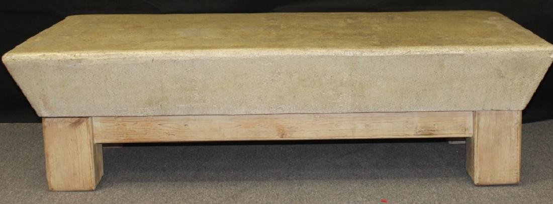 Coffee Table, Wood Base with Composite Top - 5