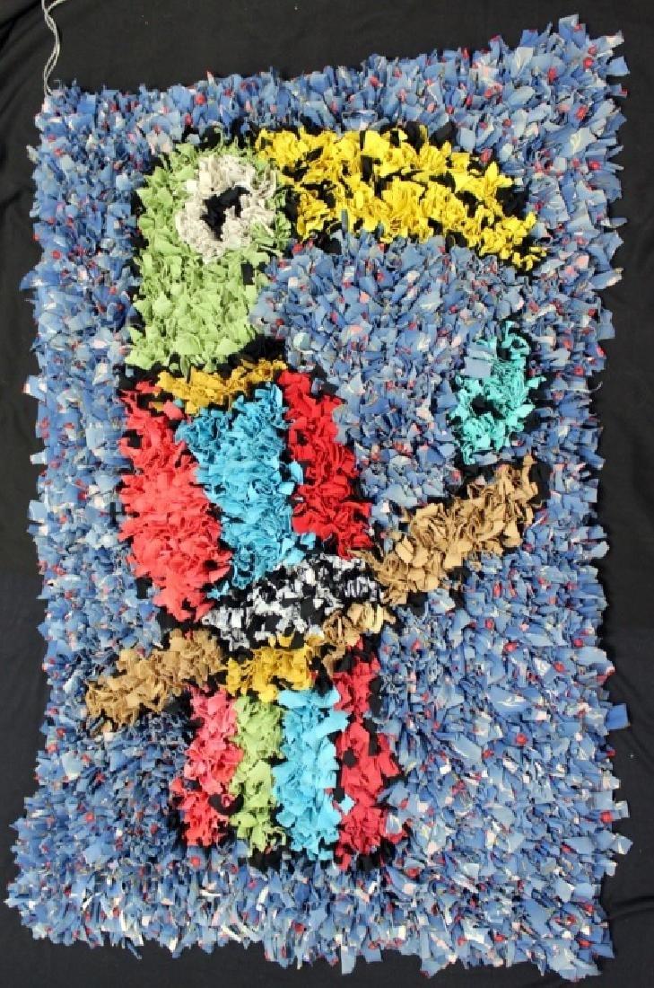 "Brazilian Handmade Rag Rug ""Toucan Bird"""