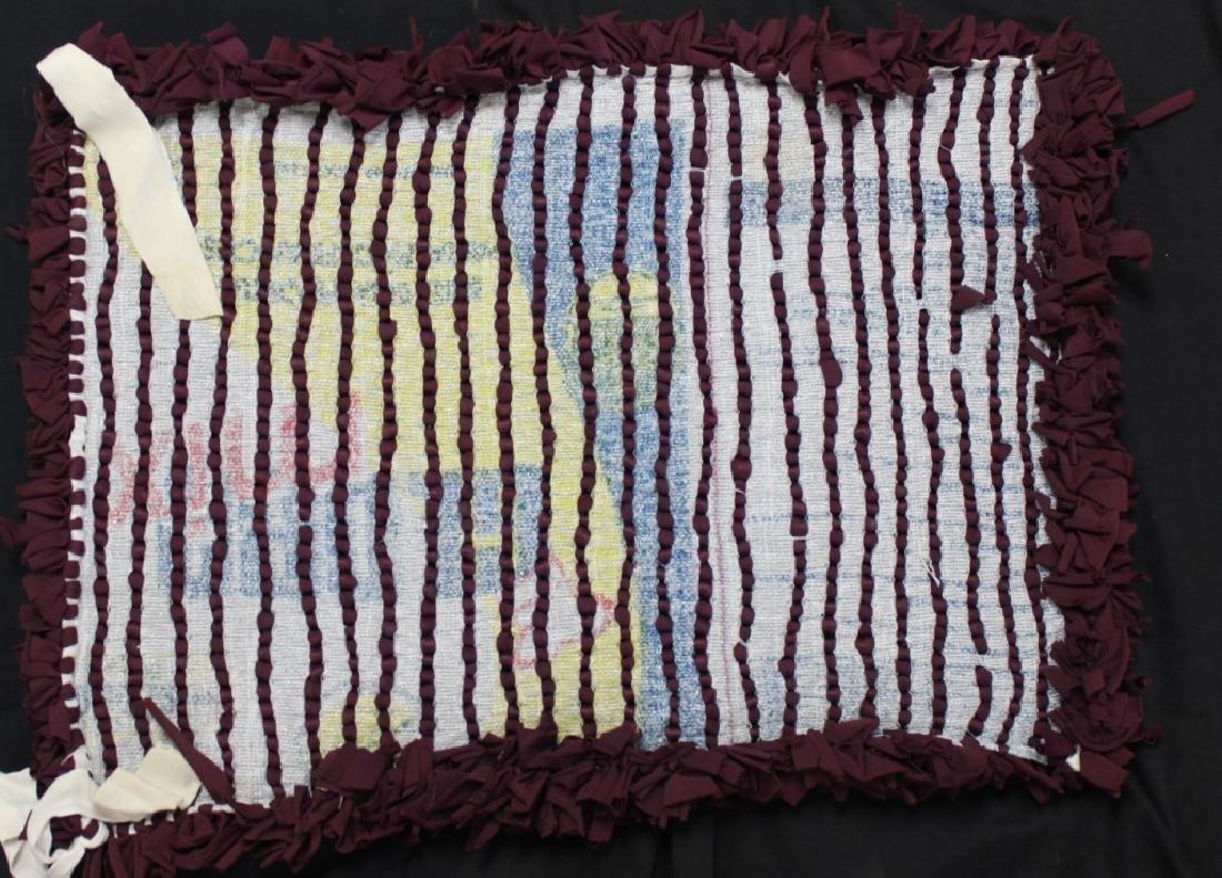 "Brazilian Handmade Rag Rug ""Burgundy Wine"" - 2"