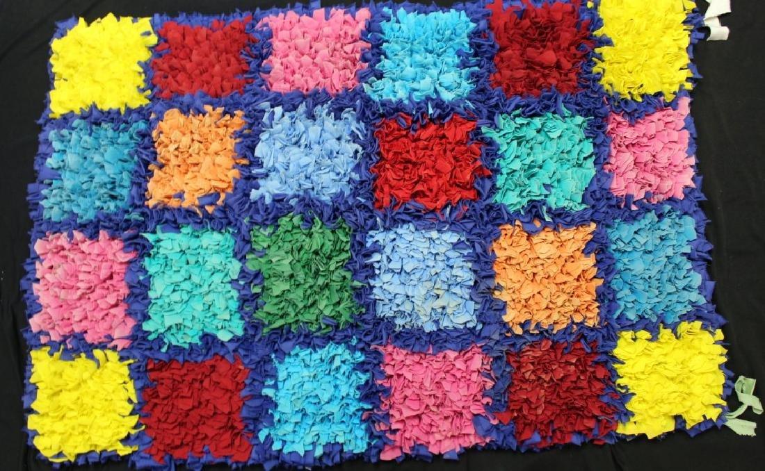 "Brazilian Handmade Rag Rug ""24 Checker Squares #2"""