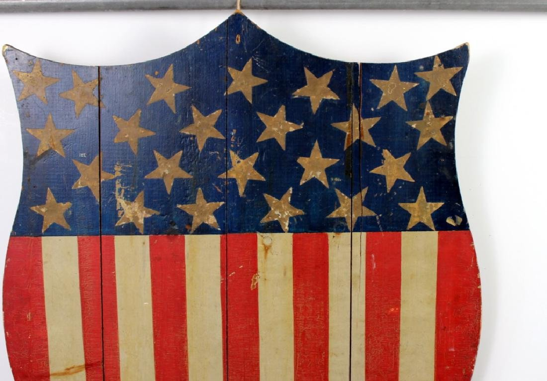 Early 20th C. Americana Shield owed by Andy Warhol - 2