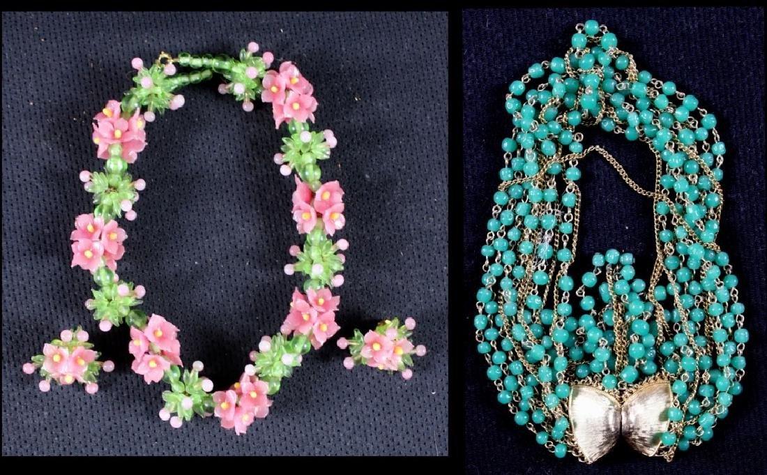 Two Vintage Costume Jewelry Plastic Bakelite
