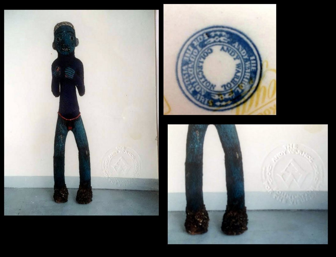 Bamileke Beaded African Figure Andy Warhol Collection - 10