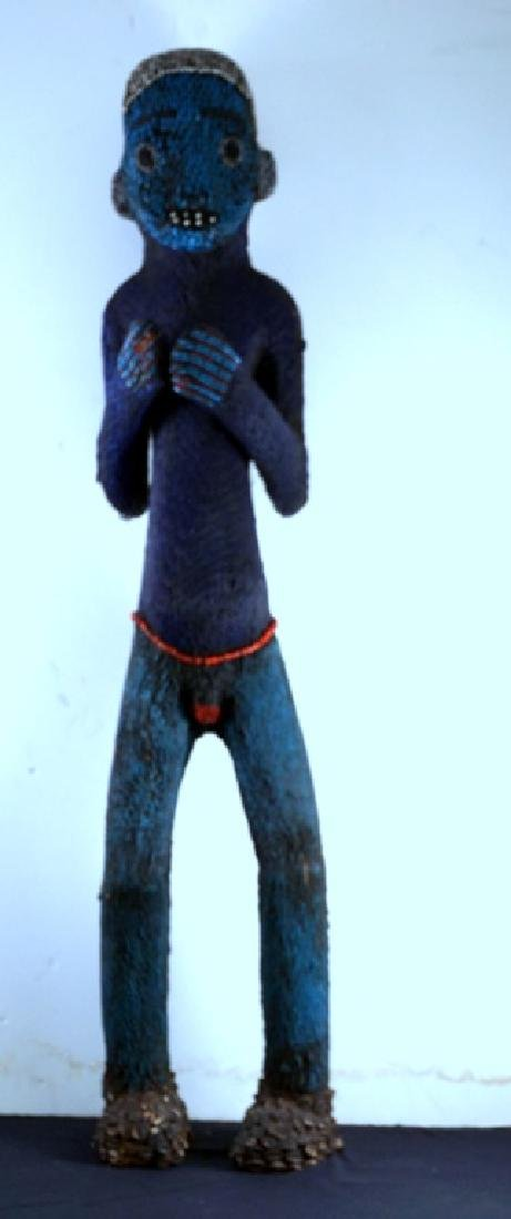 Bamileke Beaded African Figure Andy Warhol Collection