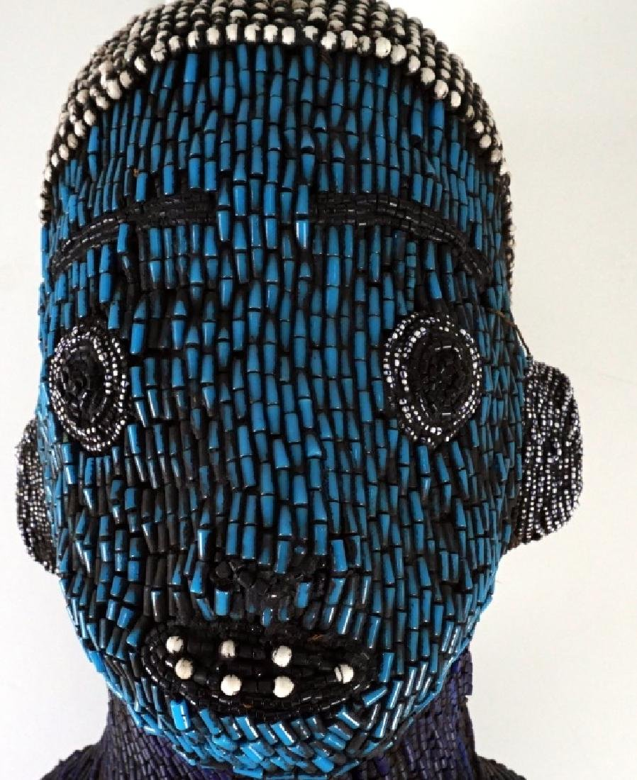 Bamileke Beaded African Figure Andy Warhol Collection - 2