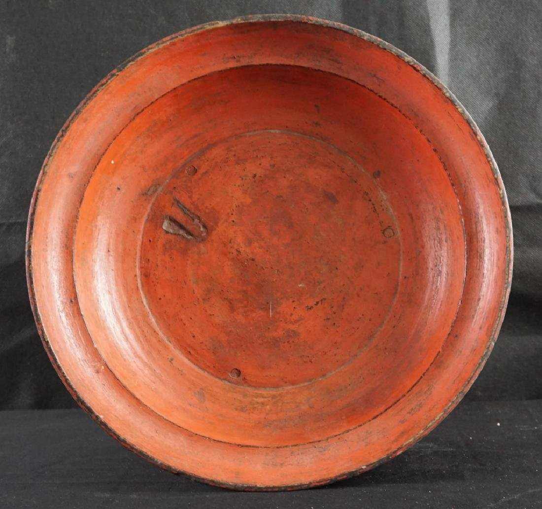 African Painted Tray, Signed - 3