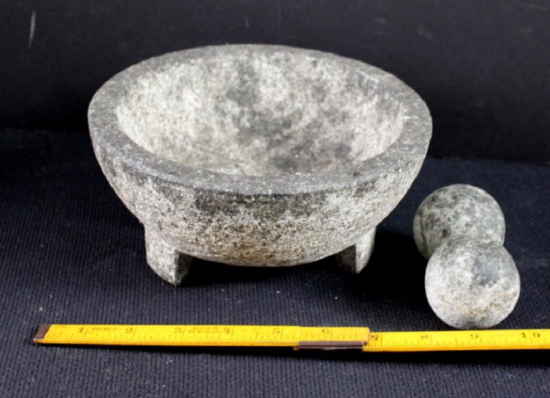 Brazilian Stone  Mortar Pestle