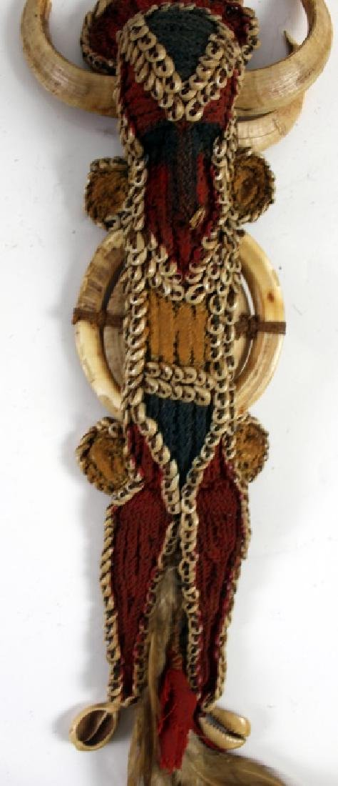 African Warrior Doll and Two Teeth of Animal - 3