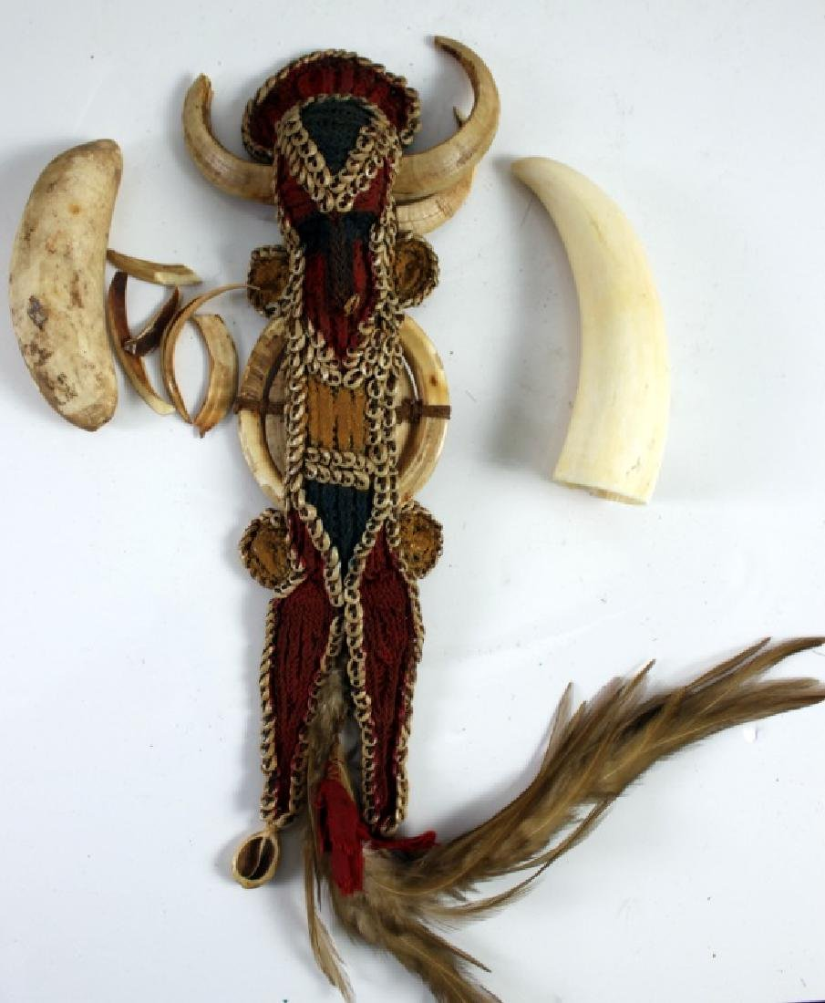 African Warrior Doll and Two Teeth of Animal - 4