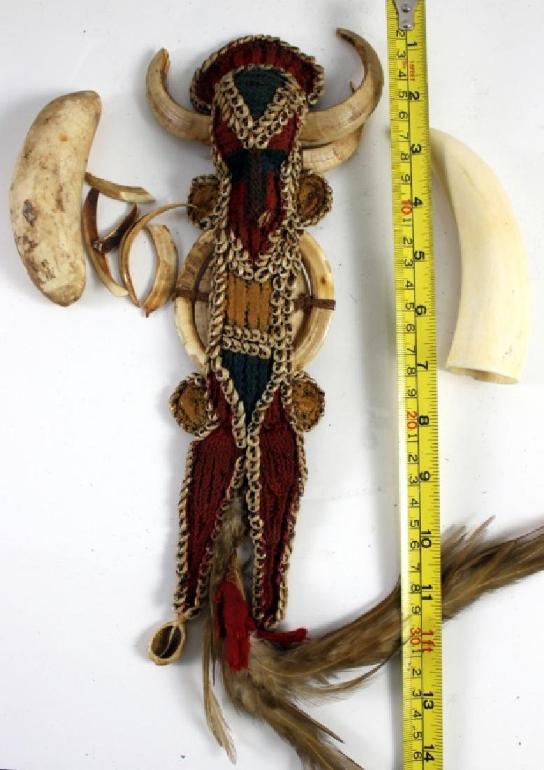 African Warrior Doll and Two Teeth of Animal - 5