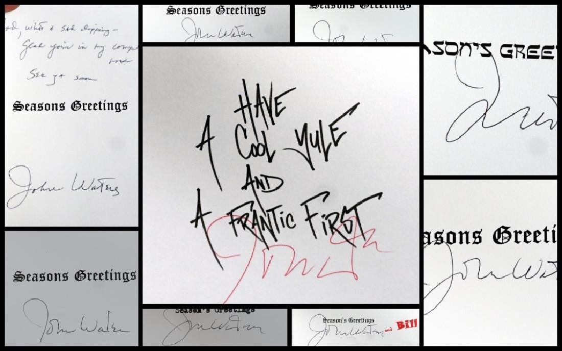 John Waters Signed Christmas Cards (9) - 2