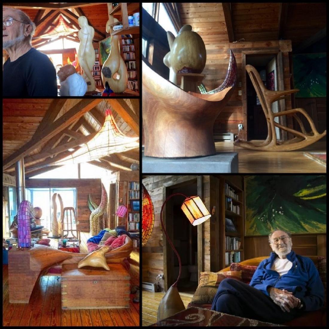 Julian Janowitz (b.1929) Wood Sculpture Bares Base - 8