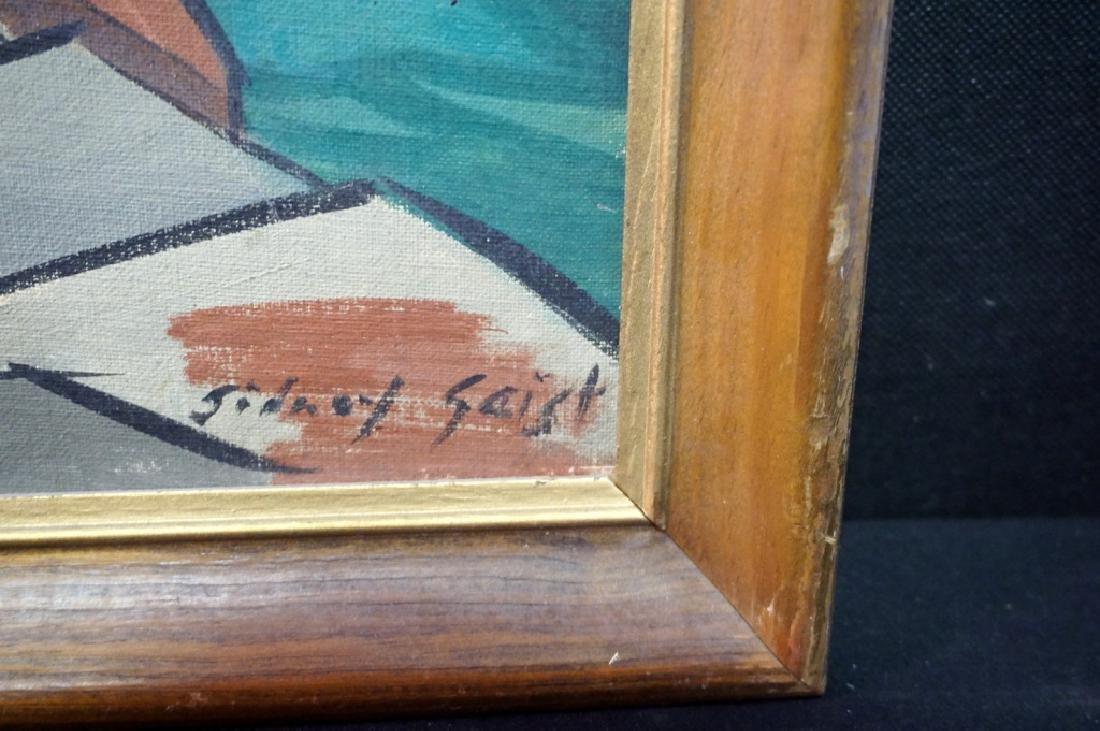 Sidney Geist Oil on Board Seascape  (1914-2005) - 2