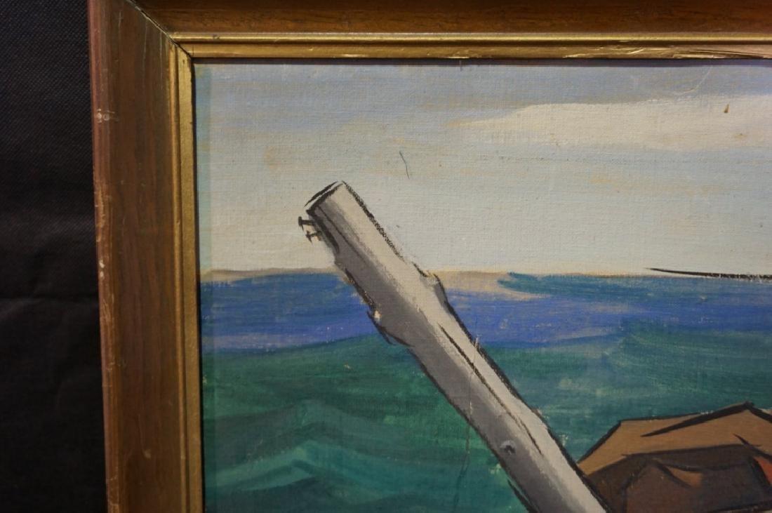 Sidney Geist Oil on Board Seascape  (1914-2005) - 4