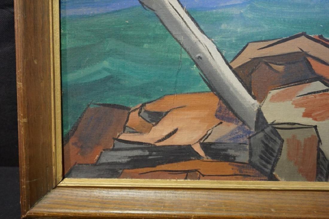 Sidney Geist Oil on Board Seascape  (1914-2005) - 5