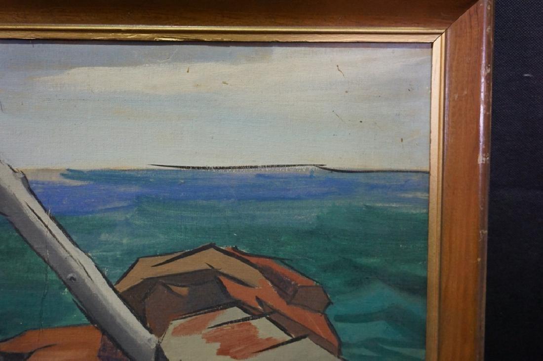 Sidney Geist Oil on Board Seascape  (1914-2005) - 6