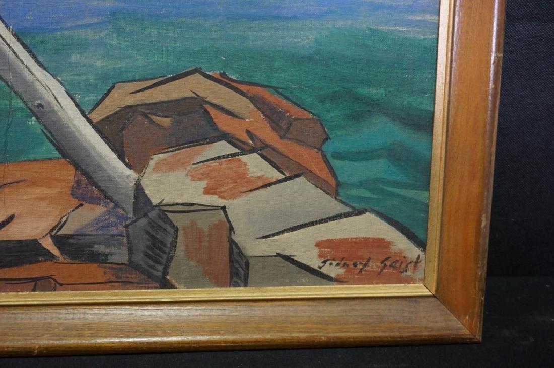 Sidney Geist Oil on Board Seascape  (1914-2005) - 7