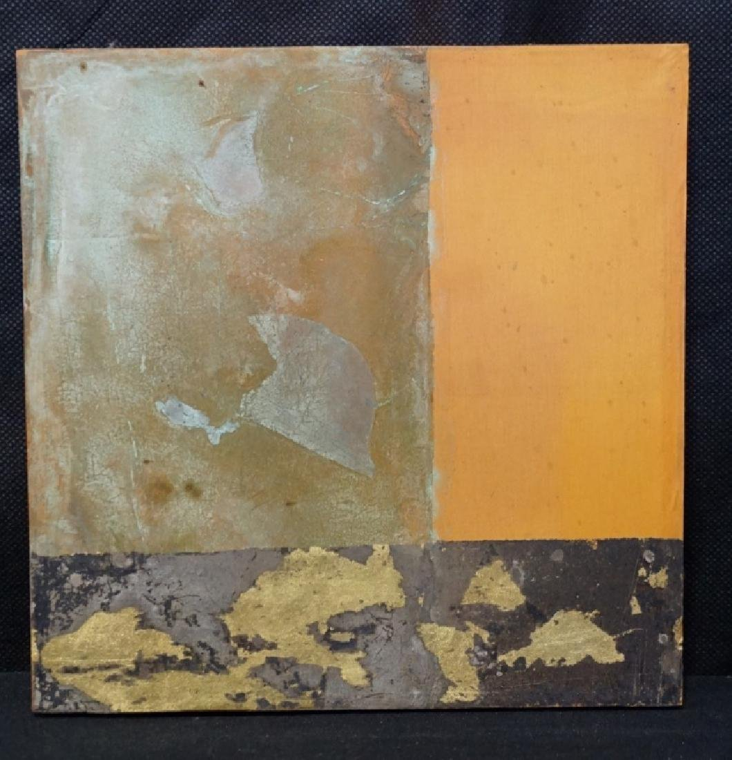 Bryan Hunt (b.1947) Abstract on Silk (Rare)