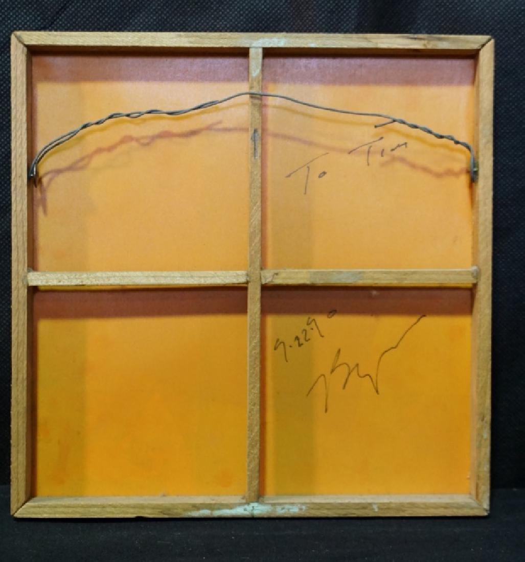 Bryan Hunt (b.1947) Abstract on Silk (Rare) - 2