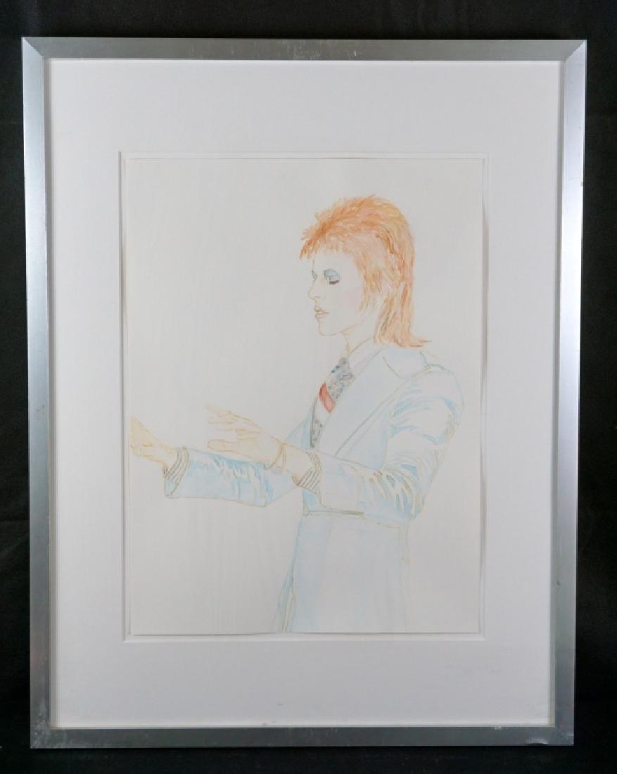 Abetz & Drescher Drawing of David Bowie