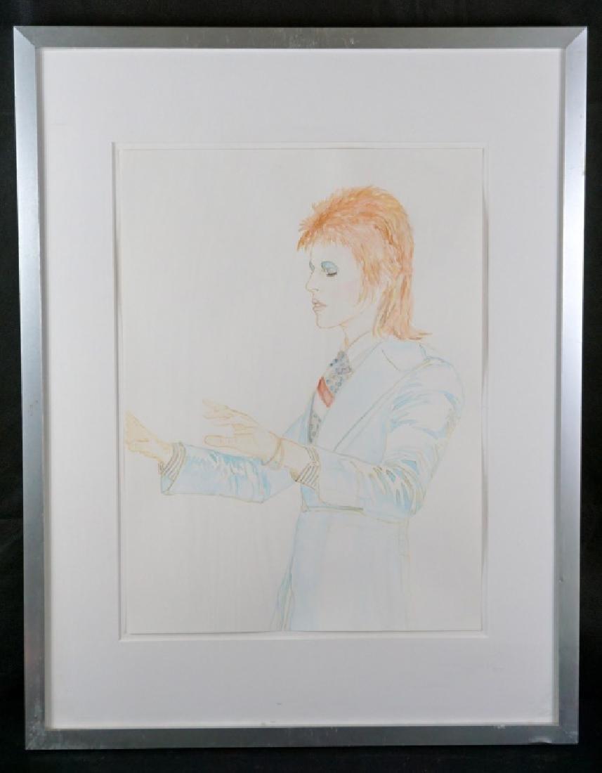 Abetz & Drescher Drawing of David Bowie - 3