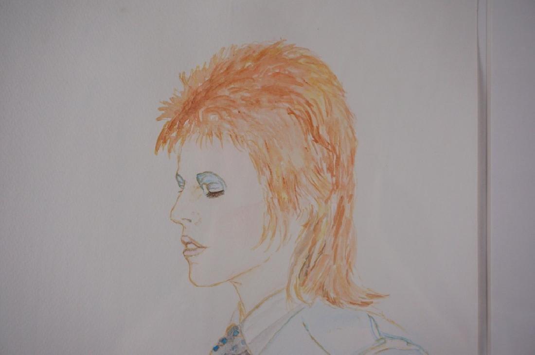 Abetz & Drescher Drawing of David Bowie - 4