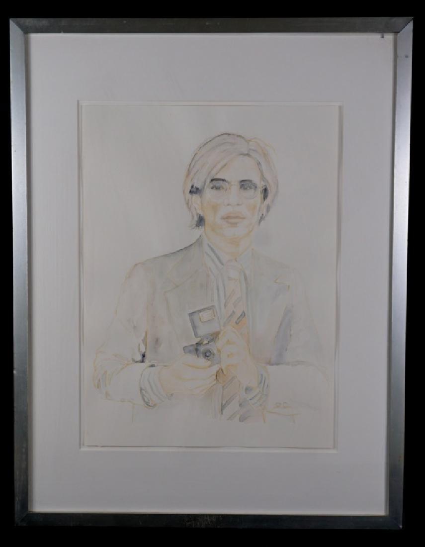 Abetz & Drescher Drawing of Andy Warhol