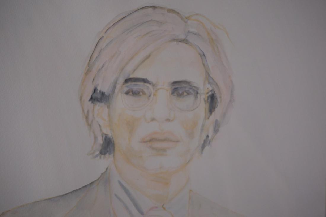 Abetz & Drescher Drawing of Andy Warhol - 2