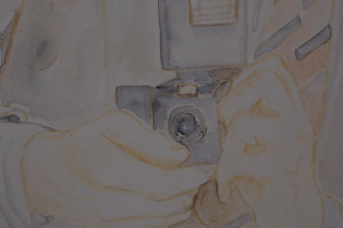 Abetz & Drescher Drawing of Andy Warhol - 3