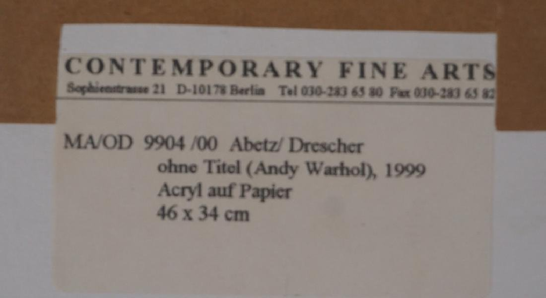 Abetz & Drescher Drawing of Andy Warhol - 5