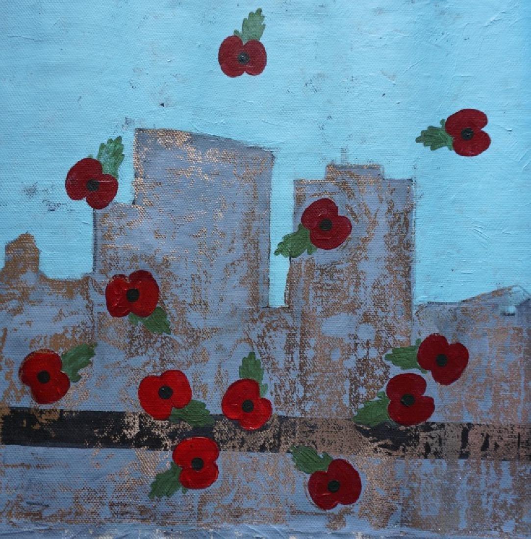 "Yanu Lanole Large Oil Painting"" London"" - 4"