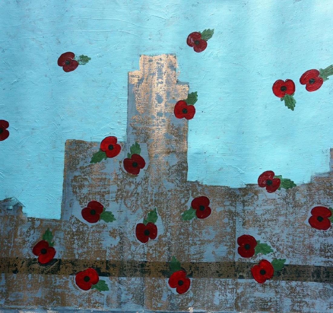 "Yanu Lanole Large Oil Painting"" London"" - 5"