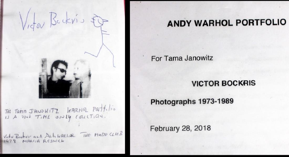 Victor Bockris 15 Signed  Photographs  Andy Warhol - 2