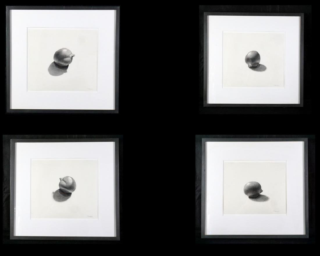 Set of 4 Pencil on Paper Drawings Signed