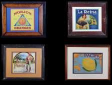 Vintage California Orange Crate Labels (4)